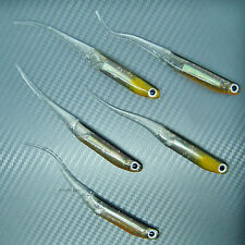 Shad Minnow Sand Eel Needle Tail Soft Lure Fishing Tackle Swimbait Jig 115mm