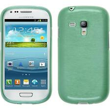 Coque en Silicone Samsung Galaxy S3 Mini - brushed vert + films de protection