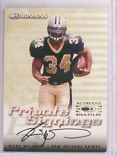 1999 Donruss Private Signings Ricky Williams autograph auto  *67582