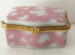 @ Porcelain jewelry box painted pink pictures nice Christmas gifts don't miss 辅导