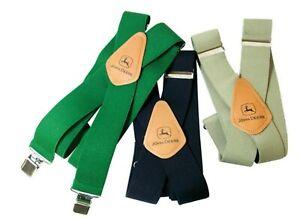 NEW John Deere Tan Khaki, Black or Green Suspenders LP25944 LP25945 LP25946