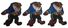 Beauty & The Beast-Beast Character Embroidered Iron On Patch Set of 3 Patches