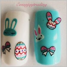 Nail Art 3D  Decals/ Easter Eggs, Easter Bunnies, Bows, Border #179