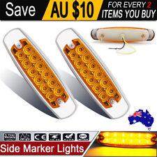 2x 12v 24v Amber Led Side Marker Tail Light Lamp Clearance Trailer Truck Caravan