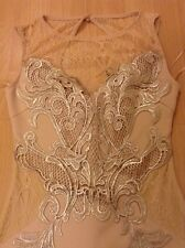 Bnwt🎀Michelle Keegan Lipsy🎀 8 (Uk) Nude Scuba Fishtail Lace Maxi Dress Wedding