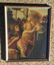 Sandro Botticelli  'Madonna and Child with St. John. framed  print under glass.
