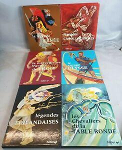 Collection 6 Livres HATIER Legendes 1968 ENEE Carolingiens TROIE Ulysse books G3