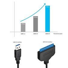 USB 3.0 zu SATA 22 Pin 2.5 Zoll Festplatte SSD Adapter Verbinder Kabel