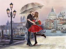 Michael Tarin: Venice Love Fertig-Bild 50x70 Wandbild Venedig Paar Romantik