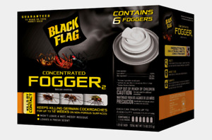 Black Flag CONCENTRATED FOGGER 6 pk 1.25 oz Kills By Contact No Residue HG-11079