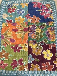 """The Company Store """"Patchwork Floral"""" Quilted Standard Pillow Cover"""