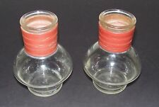 Glasbake Hottle Hot Water Bottle No Lids - McKee - Red Vinyl Wrapping - Set of 2
