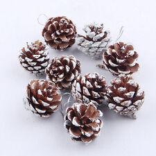 9pcs Christmas Mini Pine Cones Baubles Xmas Tree Hanging Decor Ornament Home Hot