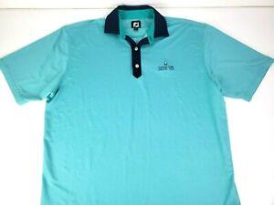 FootJoy FJ Mens Green Athletic Golf Polo Shirt Canyon Gate CC Logo Size 2XL XXL