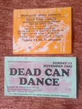 Dead Can Dance tickets x2 1989 and 1990 Town and Country Club, London