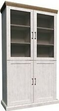 Devonshire White Ash and Oak 2 Bay Tall Dresser with Cupboards & Shelves