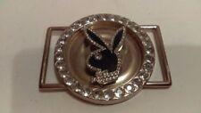 Vintage Playboy Round Rabbit Mascot Spinner Belt Buckle Very Unique Neat