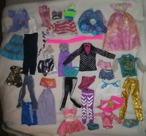 Vintage Lot of Barbie and Ken Doll Clothes or Barbie Type Clothes T1
