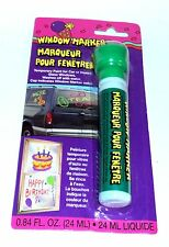 Window Marker Temp. Paint For Car/Home/Glass/Windows Washes Off W/Water GREEN