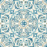 WallPops FP2477 Fontaine Peel & Stick Floor Tiles, Blues, Set of 10 Pieces