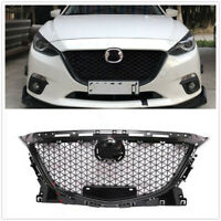 Front Upper Grille Grill Honeycomb For Mazda 3 Axela 2014 2015 2016