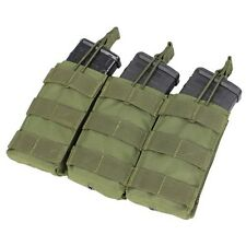 Condor MA27 OD GREEN MOLLE Triple Open Top M4 M16 AR15 Rifle Magazine Mag Pouch