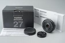 *MINT* Fujifilm Fujinon XF 27mm f/2.8 F2.8 Lens (Black), Suit X-T2 X-Pro2 X-T30
