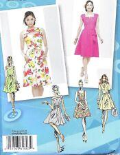 Women's Belted Full Skirt Sleeveless Summer Dress Sewing Pattern UNCUT Plus Size