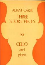 Partition pour violoncelle - Adam Carse - Three Short Pieces