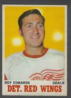 1970-71 O-Pee-Chee Detroit Red Wings Hockey Card #21 Roy Edwards