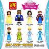 F002-009 Kinder Prinzessin Mädchen Serien Elsa Ariel Alana Beast Anna Mulan 8PCS