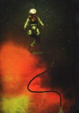 Vintage / Antique Look Deep Sea Diver SIGNED Art Print ~ Sunken Treasure Hunter