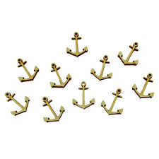 Anker 3cm aus Holz Maritim 10 Stück Meer Deko Geschenk Ostsee Wasser Angler