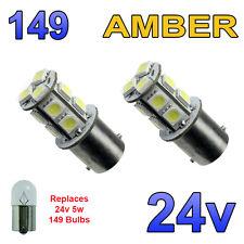 2 x AMBRA 24V LED BA15S 149 R5W 13 SMD TARGA INTERNI LAMPADINE Mezzi Pesanti Camion