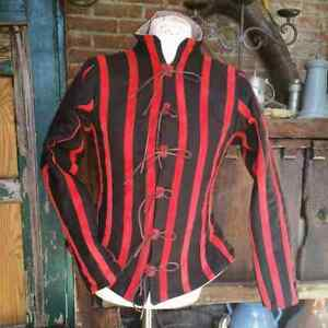 Medieval Costume Tunic Reenactment Theater Red & Black Color Fancy Style