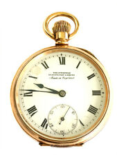Gold Plated Pocket Watch The Enterprise Antique English Dennison Moon Case 10Ct