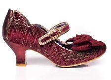 Irregular Choice 'Summer Breeze' (J) Bordo Mid Heel Bow Shoes