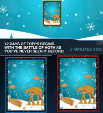 Topps Star Wars Card Trader 12 Days Of Blue & Red Presale Set - Battle Of Hoth++