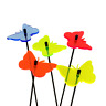 SunCatcher Set of 5: Butterfly fluorescent colourful garden ornament stake light