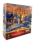 Thomas Kinkade 1000 Piece Ceaco Jigsaw Puzzle, Holiday Evening Sleigh Ride