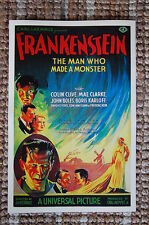 Frankenstein Lobby Card Movie Poster Boris Karloff Colin Clive John Boles