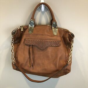 Steve Madden Large Brown Faux Leather Satchel Purse