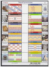 Netherlands 2002 Province hymne and flag MNH sheet