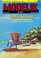 ORIGINAL PAPER-CARD MODEL KIT - Sopwith Schneider