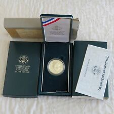 USA 1990 P Eisenhower CENTENARIO ARGENTO PROOF DOLLAR-COMPLETO