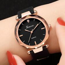 Fashion Womens Lady Casual Watches Geneva Silica Band Analog Quartz Wrist Watch