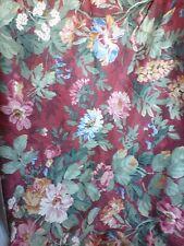 """Kaufmann Fabrics Burgundy Floral Pillow Upholstery Pink Green Blue 56' x 44"""""""