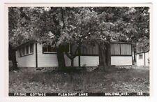 Friske Cottage Pleasant Lake Coloma WI RPPC postcard