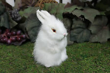 White Snowy Standing Adorable Rabbit Easter Bunny Furry Animal Decor