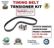 FOR TOYOTA GRANVIA LANDCRUISER PRADO 4 RUNNER 3.0 TD TDi D4D 93> TIMING BELT KIT